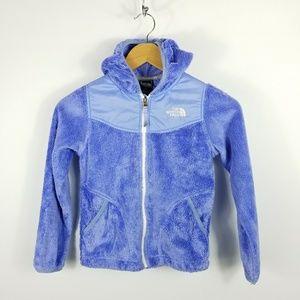 North Face Periwinkle Blue Fleece Zip Hood Jacket